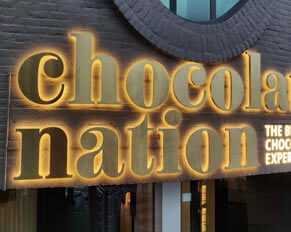 Chocolate Storefront Backlit Sign