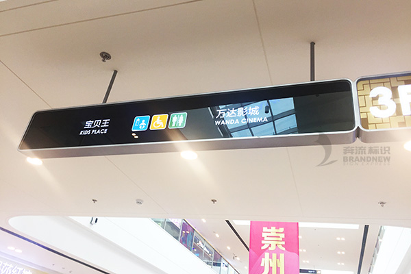Shopping Mall Guide Signage System Planning